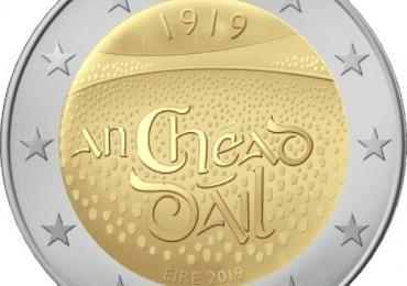 Продам 2 евро Ирландии 2019 UNC