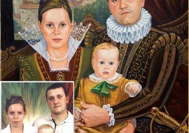 Картина портрет на заказ подарок