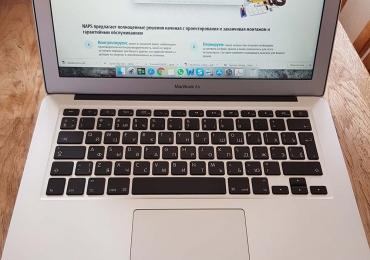 Macbook air 13 в отличном состоянии, новый аккумулятор, 1 владелец.