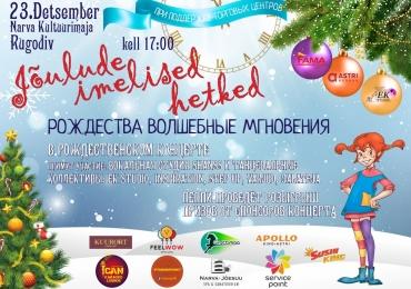 Рождественский концерт с участием коллективов города.