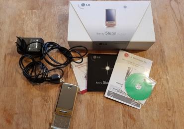 Телефон LG KE970, золото, в металлическом корпусе, комплект